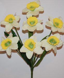 Искусственные цветы-Нарцис натуральный 7-ка не прес R-1074