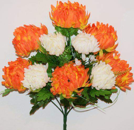 Искусственные цветы-Астра хризантема 11-ка не прес R-1082