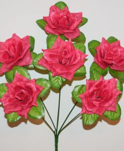 Искусственные цветы-Розочка острая 6-ка R-1071