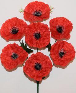 Искусственные цветы-Мак атласный 7-ка R-1110