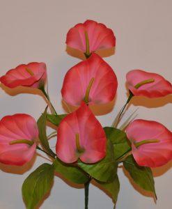 Искусственные цветы-Кала бархатная 7-ка R-798