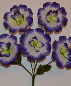 Искусственные цветы- Ветка Гвоздика атласная не прес B-109