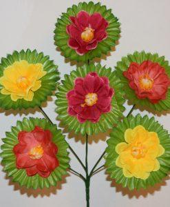Искусственные цветы-Калинка микс 6-ка R-1136