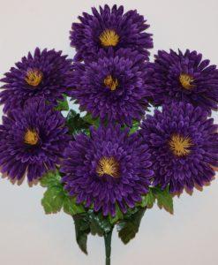 Искусственные цветы-Хризантема плоская 7-ка R-1121