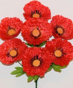 Искусственные цветы-Мак атласный 7-ка R-1141
