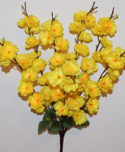 Искусственные цветы-Сакура 7 веток атласная не прес R-1157